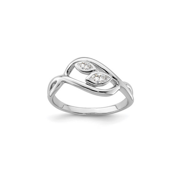 Marquise CZ Leaf Ring Vandenbergs Fine Jewellery Winnipeg, MB