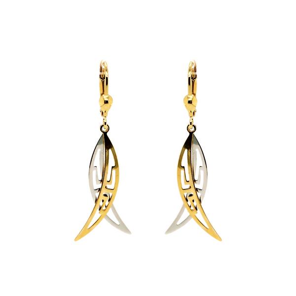 10K Two-Tone Earrings Vandenbergs Fine Jewellery Winnipeg, MB