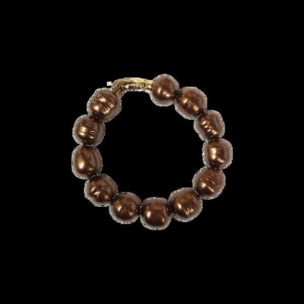 Majorica Baroque Chocolate Pearl Bracelet Vandenbergs Fine Jewellery Winnipeg, MB