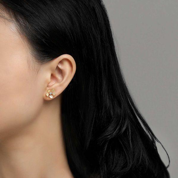 Flower Stud Earrings Image 2 Vandenbergs Fine Jewellery Winnipeg, MB