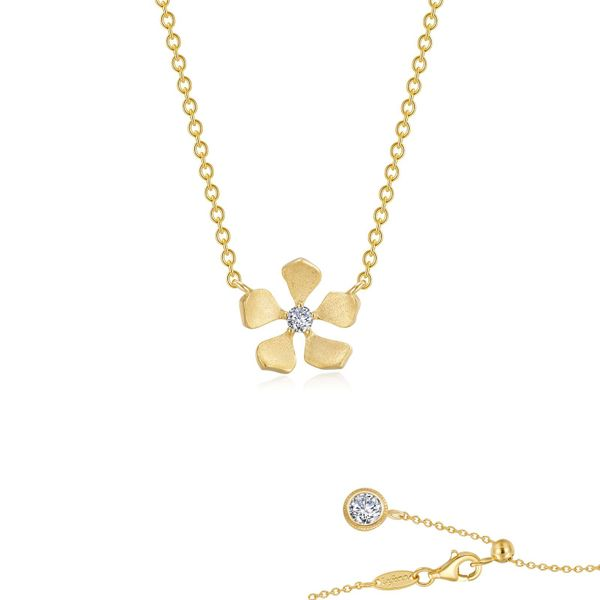 Delicate Flower Necklace Vandenbergs Fine Jewellery Winnipeg, MB