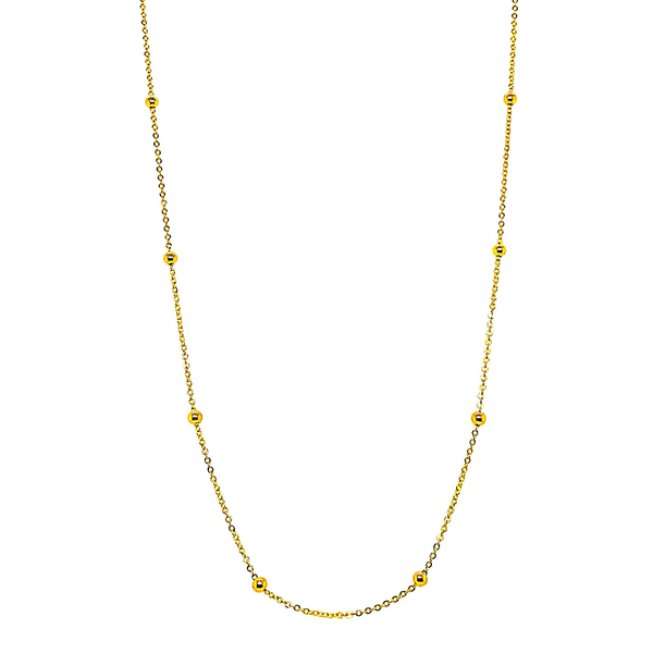 "14K Gold 18"" Polished Bead Saturn Chain Vandenbergs Fine Jewellery Winnipeg, MB"