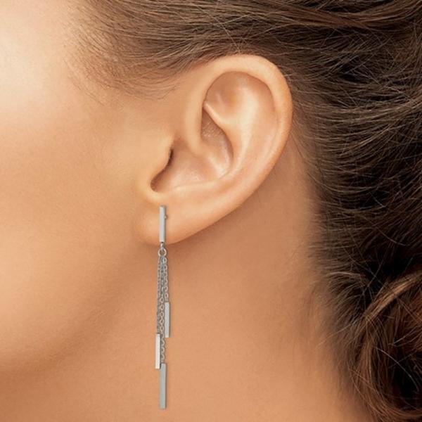 Stainless Steel Bar Dangle Earrings Image 2 Vandenbergs Fine Jewellery Winnipeg, MB