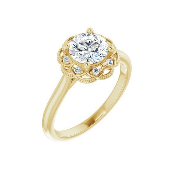 Round Engagement Ring Mounting Vandenbergs Fine Jewellery Winnipeg, MB