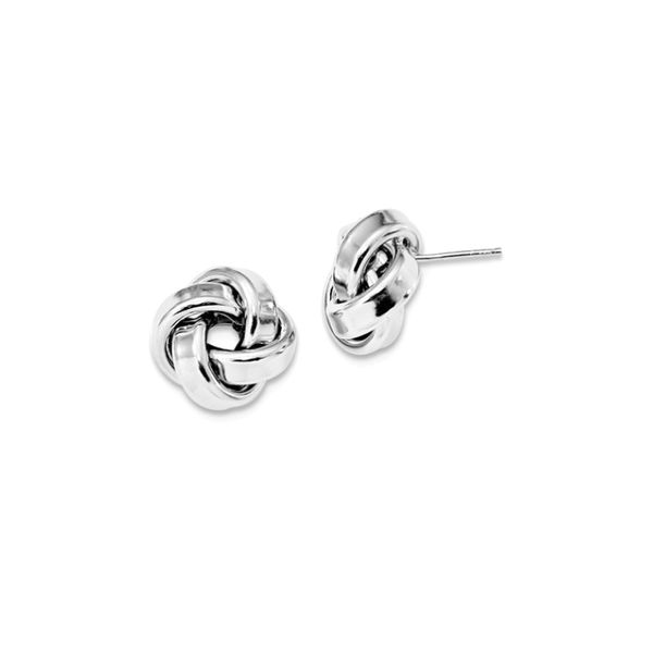 love knot studs small
