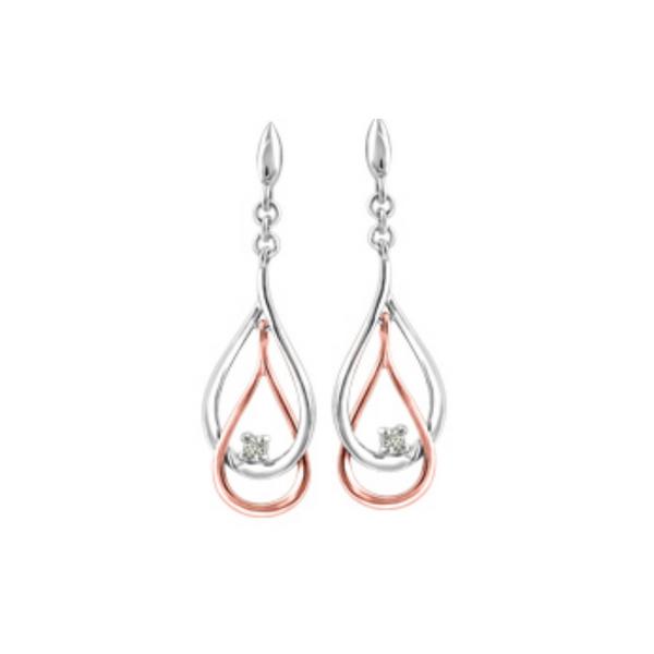 10K White & Rose Diamond Earrings Vandenbergs Fine Jewellery Winnipeg, MB