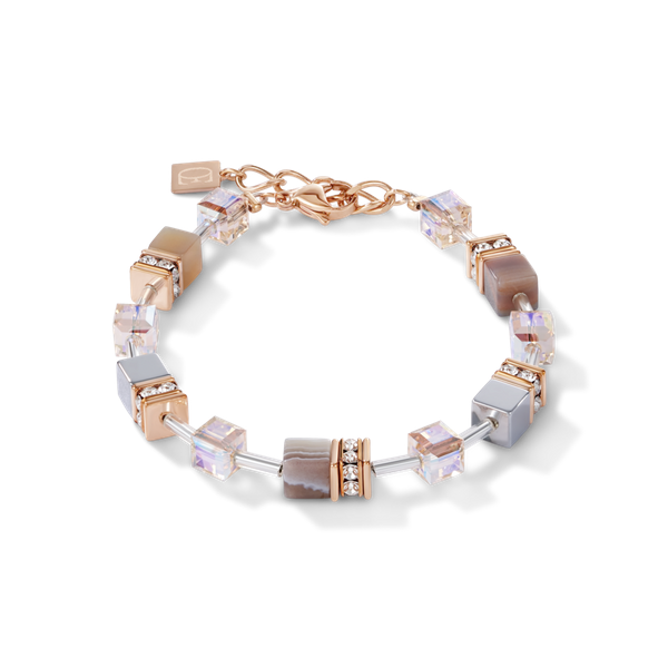 Botswana Agate & Haematite Apricot Bracelet Vandenbergs Fine Jewellery Winnipeg, MB