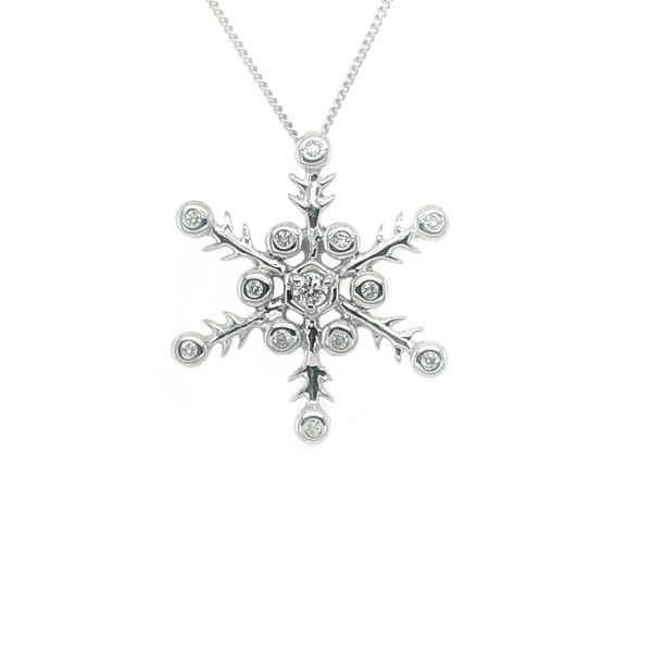 Diamond Snowflake Necklace Vandenbergs Fine Jewellery Winnipeg, MB