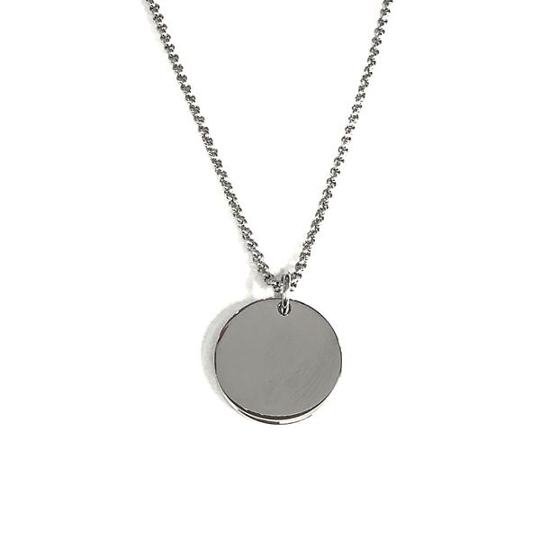Stainless Steel Engravable Disc Necklace Vandenbergs Fine Jewellery Winnipeg, MB