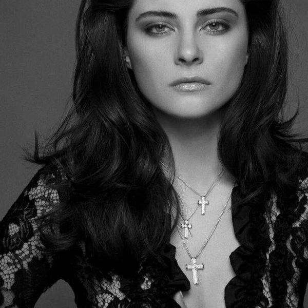 Petra Azar Cross Necklace Model Photos