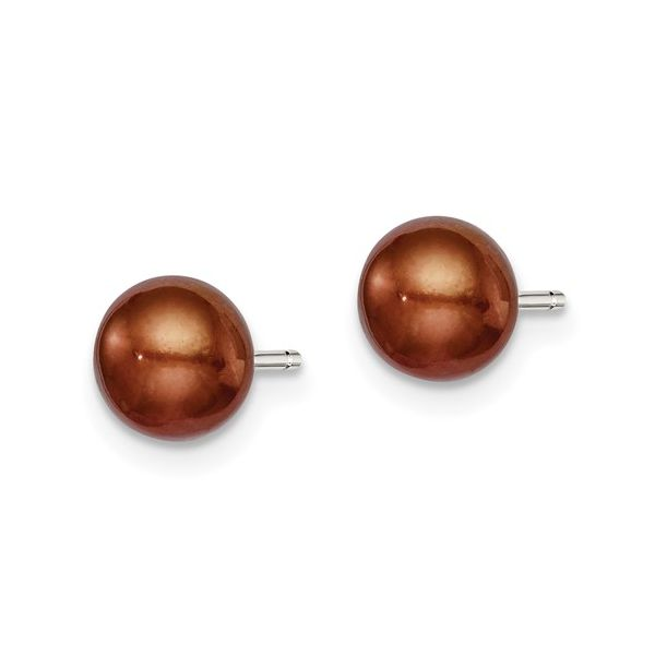 Button Pearl Stud Earrings Image 2 Vandenbergs Fine Jewellery Winnipeg, MB