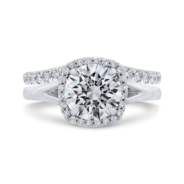 Split Shank Halo Semi-Mount Engagement Ring Vandenbergs Fine Jewellery Winnipeg, MB