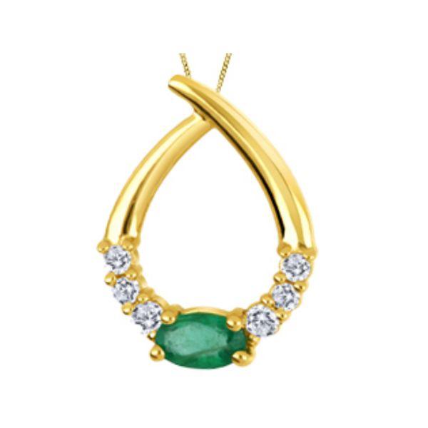 Diamond Emerald Pendant Vandenbergs Fine Jewellery Winnipeg, MB