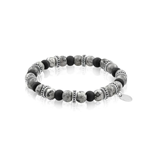 Steel Carbon Fiber Jasper Bead Bracelet Vandenbergs Fine Jewellery Winnipeg, MB