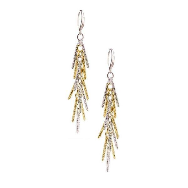 Frederic Duclos Two Tone Dangle Earrings