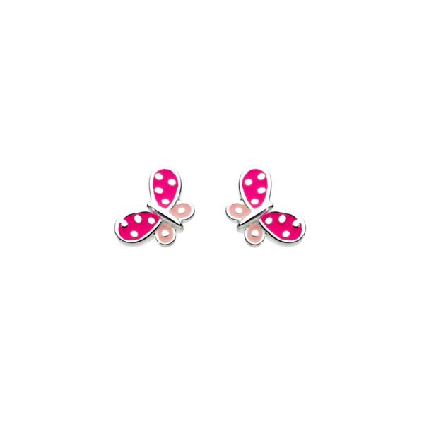 Kit Heath Girls Pink Butterfly Studs Vandenbergs Fine Jewellery Winnipeg, MB