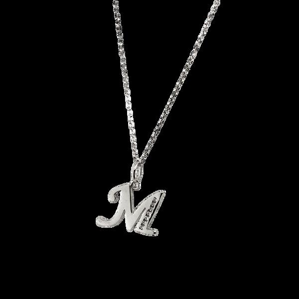 Sterling Silver CZ Letter M Necklace Vandenbergs Fine Jewellery Winnipeg, MB