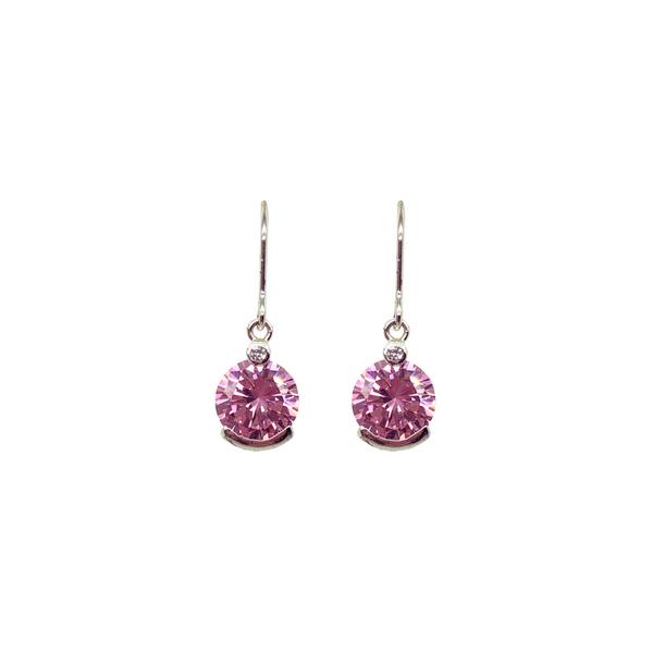 Sterling Silver Pink CZ Dangle Earrings Vandenbergs Fine Jewellery Winnipeg, MB
