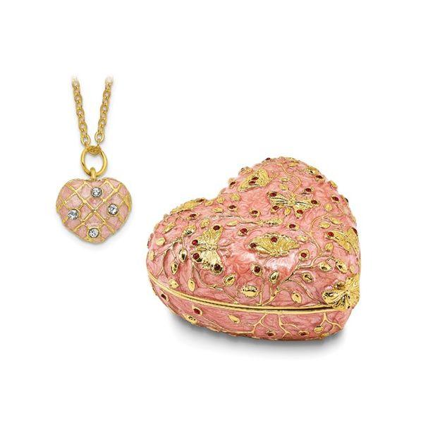 Bejewelled Butterfly Heart Trinket Box Image 2 Vandenbergs Fine Jewellery Winnipeg, MB