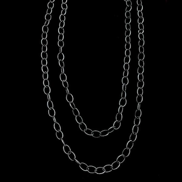 "Sterling Silver Oxidized 36"" Chain Necklace Image 2 Vandenbergs Fine Jewellery Winnipeg, MB"