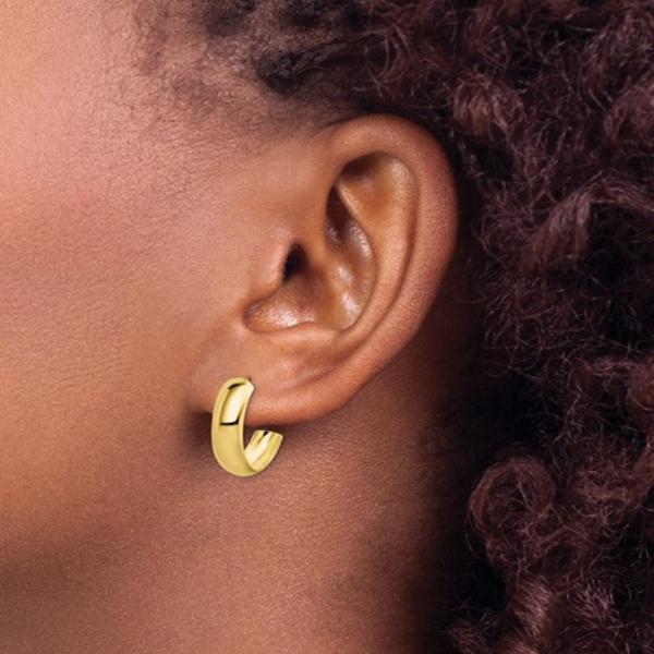 10K Gold 6.5mm Hoop Earrings Image 2 Vandenbergs Fine Jewellery Winnipeg, MB
