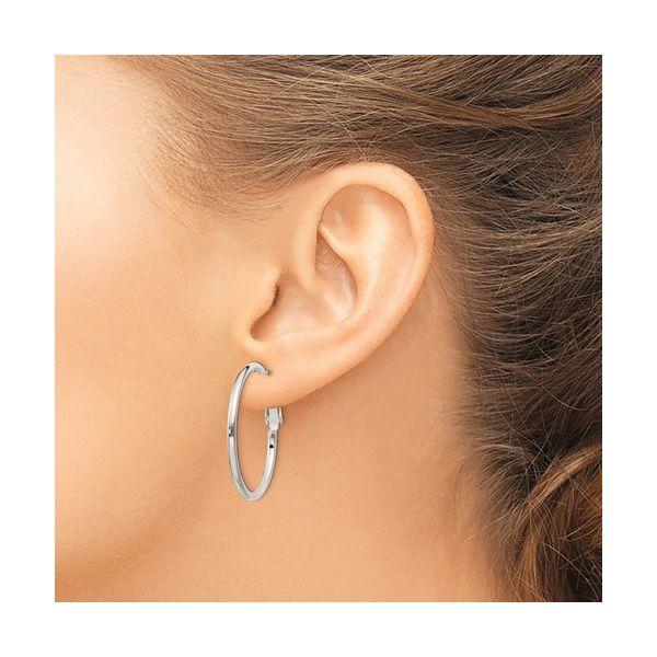 Sterling Silver 2x30mm Hoop Earrings Image 2 Vandenbergs Fine Jewellery Winnipeg, MB