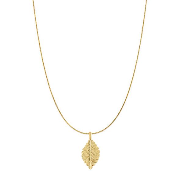 14K Yellow Gold Leaf Necklace Vandenbergs Fine Jewellery Winnipeg, MB