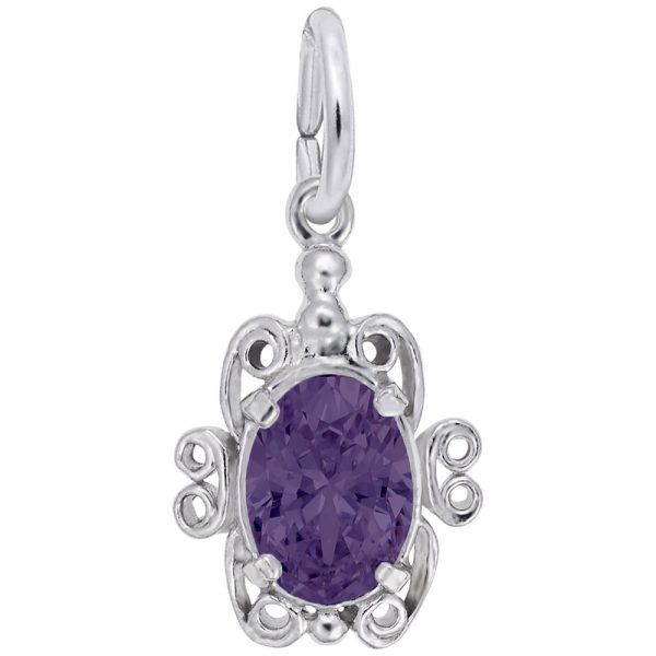 February Birthstone Charm Vandenbergs Fine Jewellery Winnipeg, MB