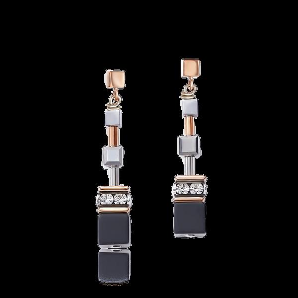 Rose Gold & Silver GeoCube Earrings Vandenbergs Fine Jewellery Winnipeg, MB