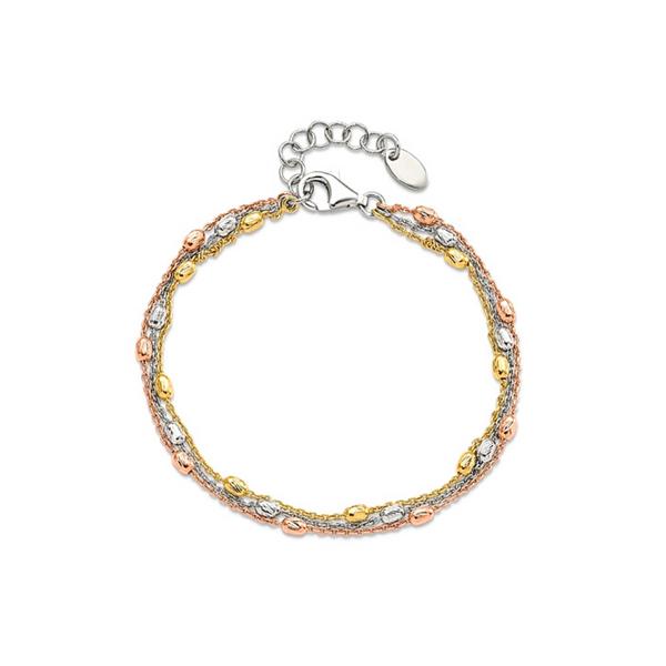 Sterling Silver Tri-Tone 3 Strand Bracelet/Anklet Vandenbergs Fine Jewellery Winnipeg, MB