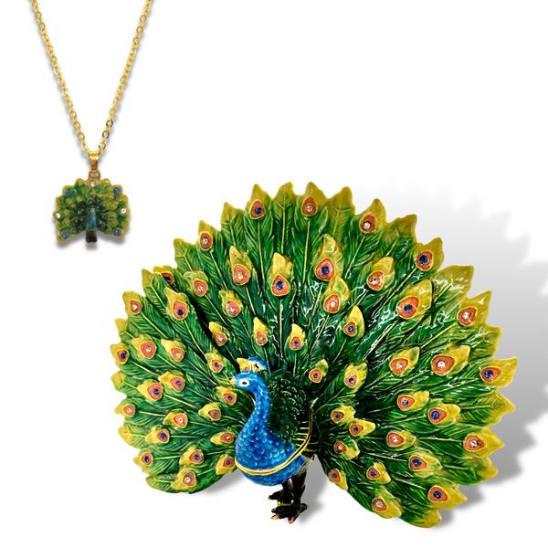 Queen Sheba The Peacock Trinket Box Vandenbergs Fine Jewellery Winnipeg, MB