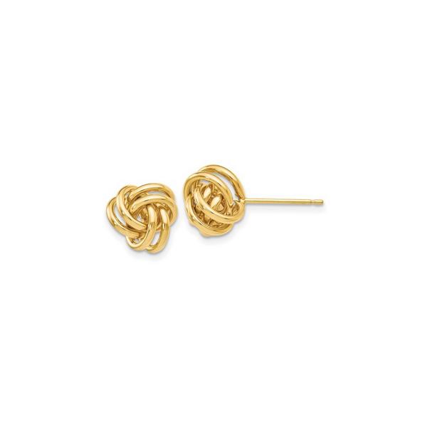 14K Yellow Gold Knot Post Earrings Vandenbergs Fine Jewellery Winnipeg, MB
