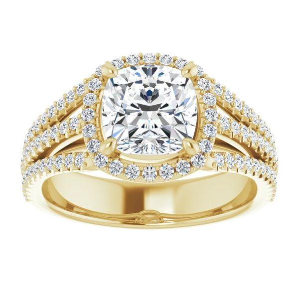 14K White 7 mm Cushion Engagement Ring Mounting Image 2 Vandenbergs Fine Jewellery Winnipeg, MB