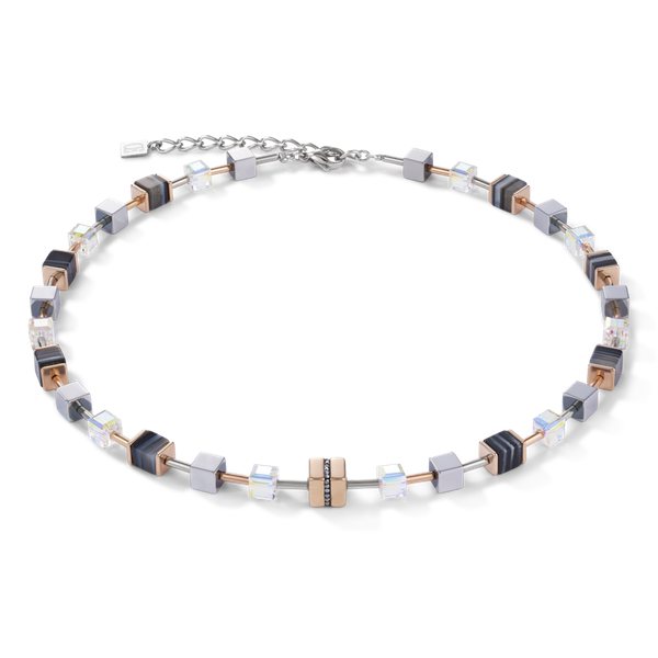 Black Crystal GeoCube Necklace Vandenbergs Fine Jewellery Winnipeg, MB