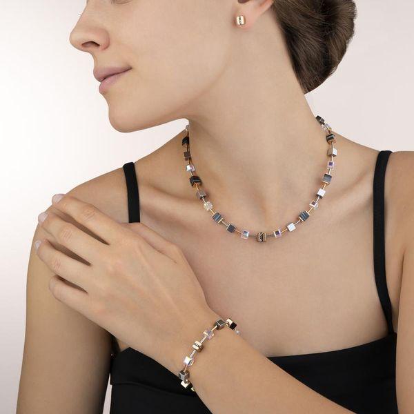 Black Crystal GeoCube Necklace Image 2 Vandenbergs Fine Jewellery Winnipeg, MB