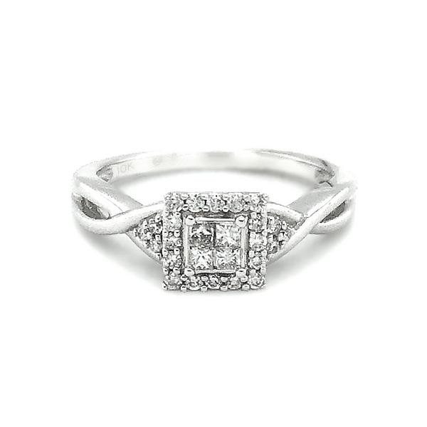 10K White Gold Diamond Engagement Ring Vandenbergs Fine Jewellery Winnipeg, MB