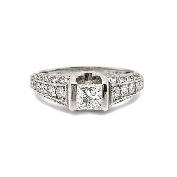 14K White Gold Princess Diamond Engagement Ring Vandenbergs Fine Jewellery Winnipeg, MB