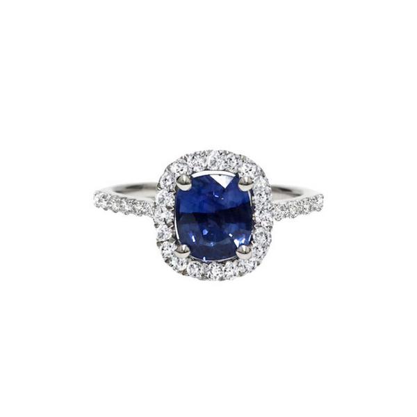 18K White Gold Blue Sapphire Ring Vandenbergs Fine Jewellery Winnipeg, MB
