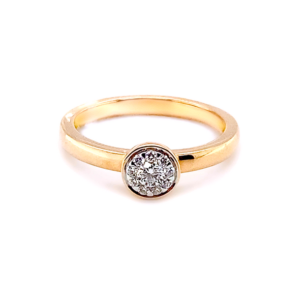 14K Rose Gold Diamond Engagement Ring Vandenbergs Fine Jewellery Winnipeg, MB