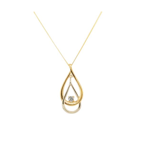 10K Two-Tone Diamond Pendant Vandenbergs Fine Jewellery Winnipeg, MB