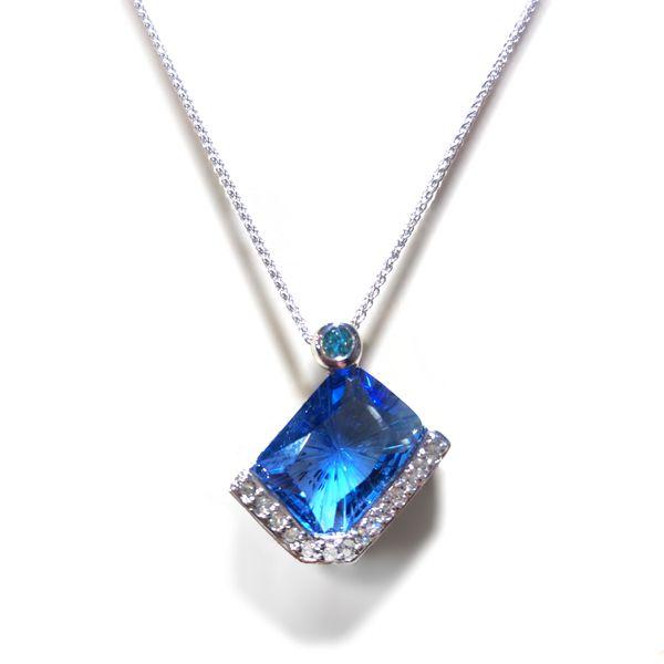 Sterling Silver Blue Cashmere Topaz Pendant Vandenbergs Fine Jewellery Winnipeg, MB