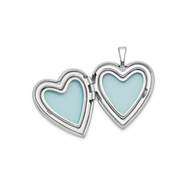 Sterling Silver Heart Locket & Pendant Image 2 Vandenbergs Fine Jewellery Winnipeg, MB