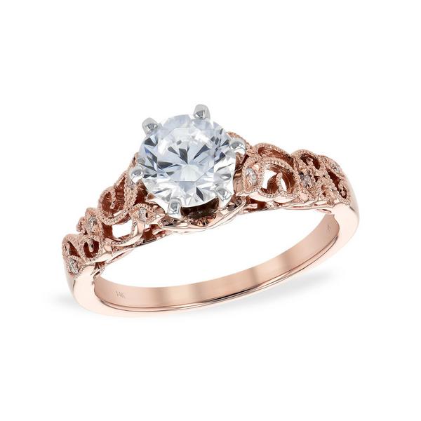 14K Rose Gold Engagement Ring Vandenbergs Fine Jewellery Winnipeg, MB