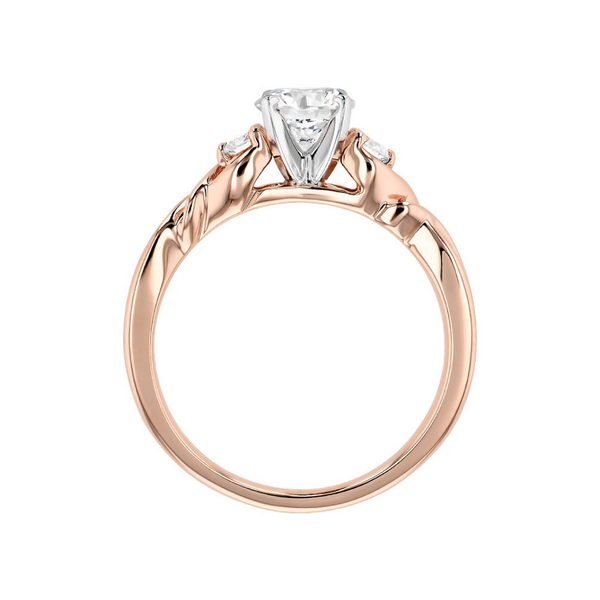 14K Rose Gold Diamond Engagement Ring Image 2 Vandenbergs Fine Jewellery Winnipeg, MB