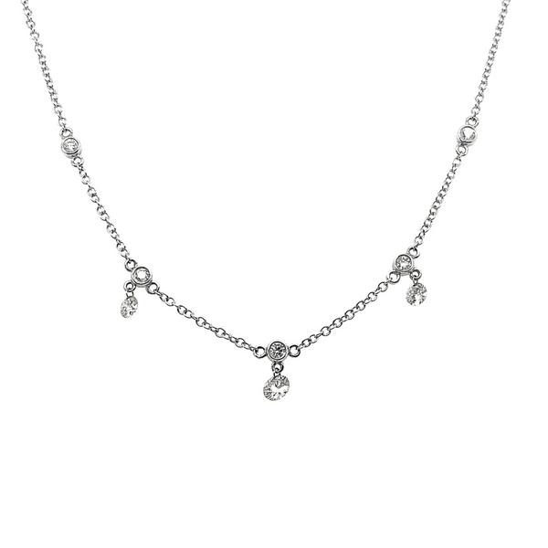 "17"" White Gold Diamond Necklace Vandenbergs Fine Jewellery Winnipeg, MB"