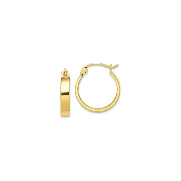 10K Square Tube Hoop Earrings Vandenbergs Fine Jewellery Winnipeg, MB