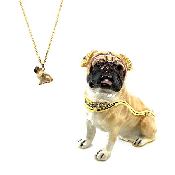Pug Pup Trinket Box Vandenbergs Fine Jewellery Winnipeg, MB