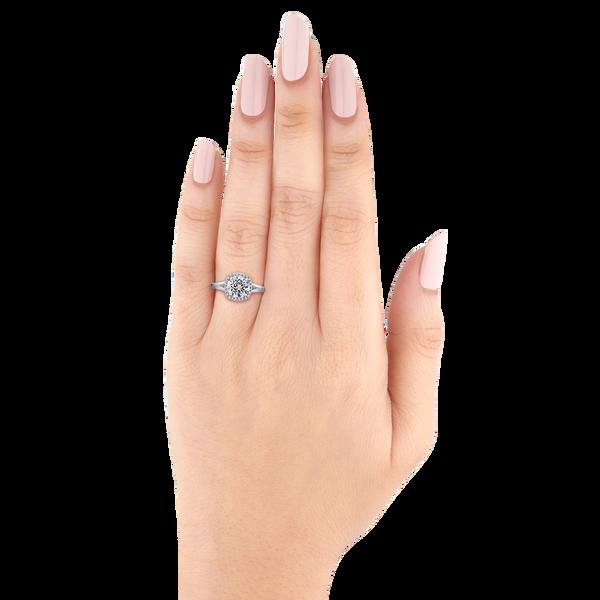 Split Shank Halo Semi-Mount Engagement Ring Image 3 Vandenbergs Fine Jewellery Winnipeg, MB