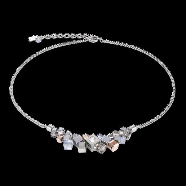 Silver-Rose Cube Cluster Necklace Vandenbergs Fine Jewellery Winnipeg, MB