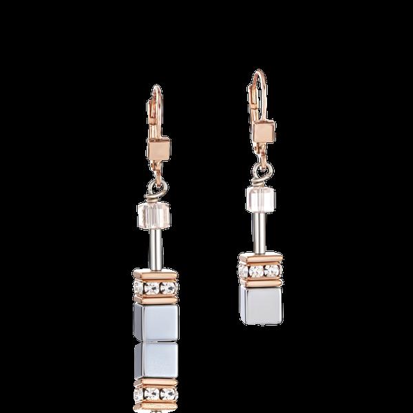 Botswana Agate & Haematite Apricot Earrings Vandenbergs Fine Jewellery Winnipeg, MB